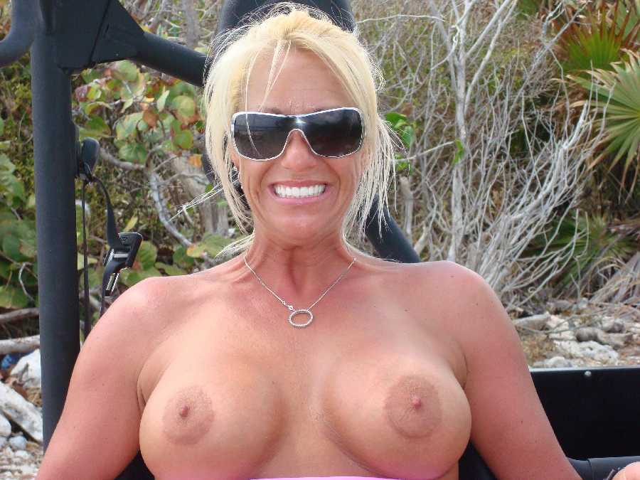 with Blonde nice tits milf